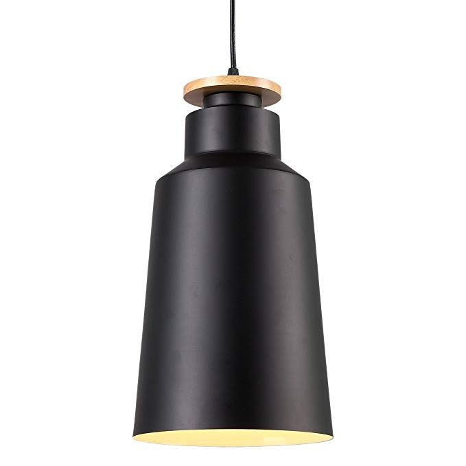 Homiforce Vintage Style 1 Light Large Black Dome Pendant Light With Metal Shade In Matte Black Finish Modern I Dome Pendant Lighting Metal Shades Pendant Light