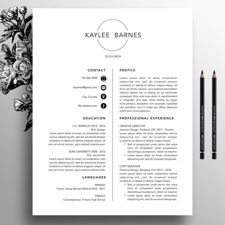 Best Professional ResumeCv Templates Images On