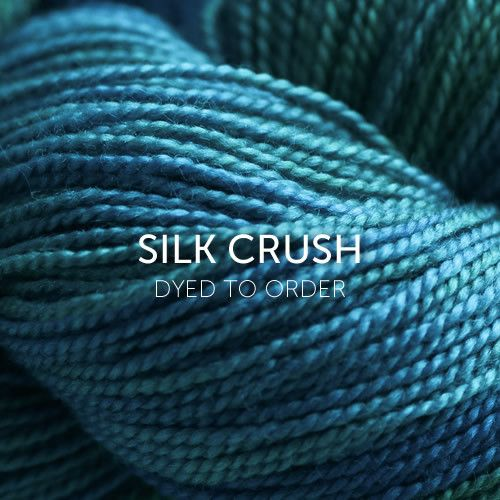 Silk Crush from Sweet Georgia is superwash merino and silk. Great for shawls. Love Coral Rose and Basil