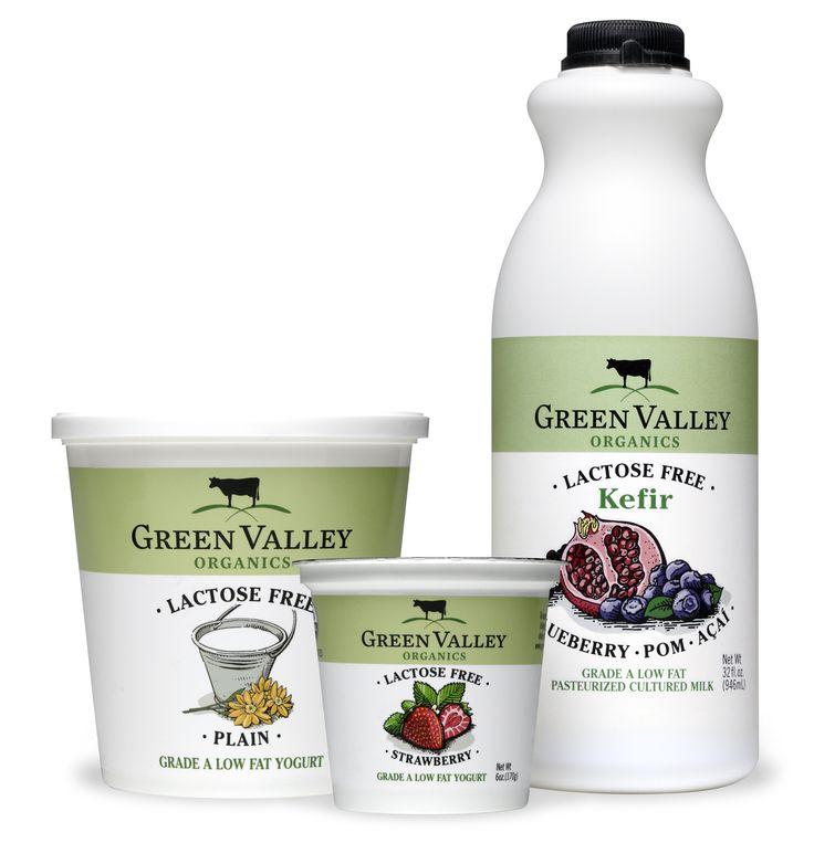 Green Valley yogurt packaging