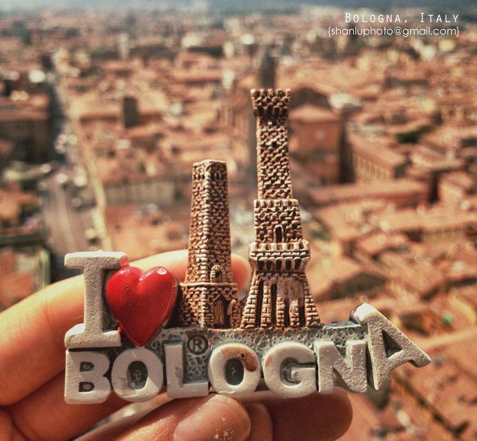 【意大利博洛尼亚】500级台阶爬斜塔,鸟瞰红顶之城。 Bologna by @bjlulu