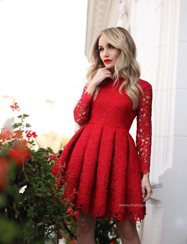 lace-dress-4 lace-dress-6 #lacedress #reddress #dress #lace #elegantdress #fallwinter #fw1617 #stilettos #nudestilettos #nude #cocktaildress #red #redlacedress #rochierosie #rochiedantela
