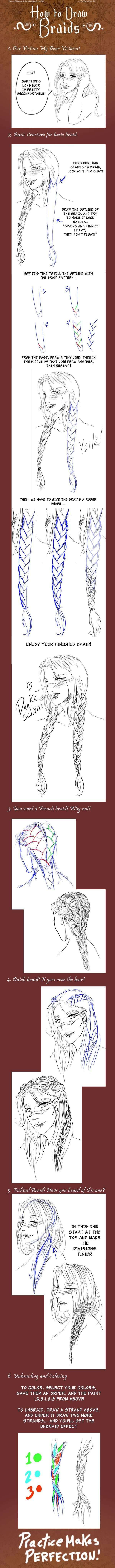 How to draw a braid!!!