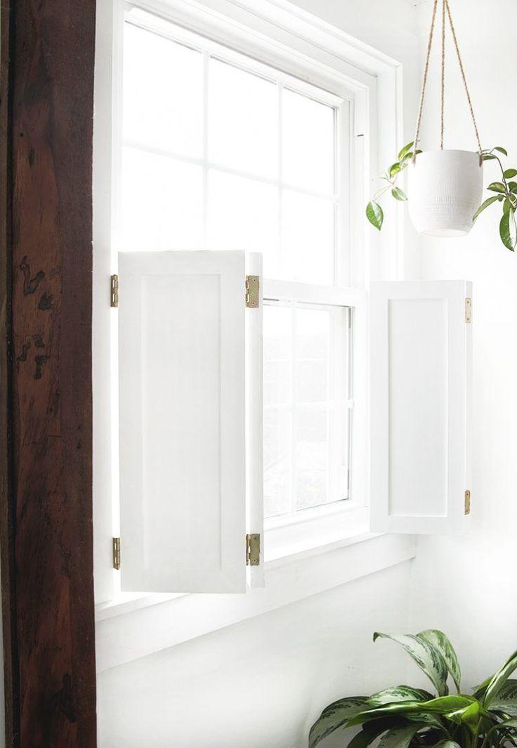 Diy interior window shutters in 2020 diy interior window