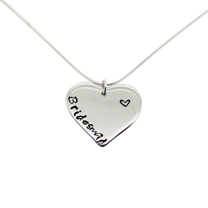 Personalised Sterling Silver Love Heart Necklace / Hilary&June