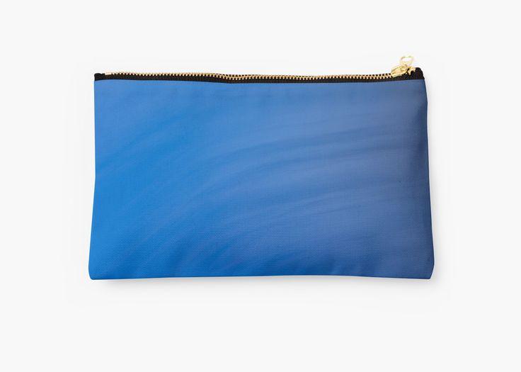 """Blue Wave Abstract"" pouch par Galerie 503"