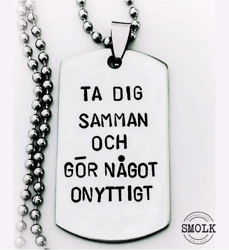 Ta dig samman och gör något onyttigt via SMOLK -Handstamped jewelry with a twist. Click on the image to see more!