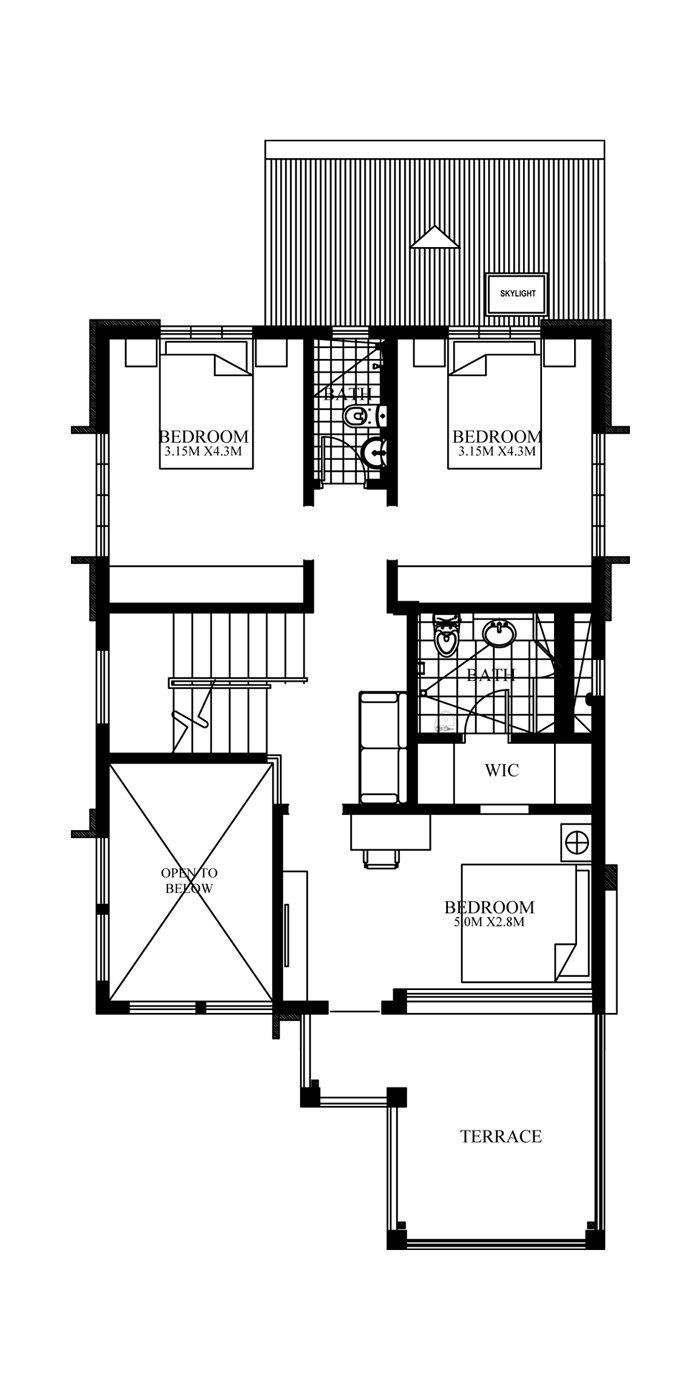Home Design Plan 8x14m With 4 Bedrooms Home Design With Plan Modern House Plans House Layout Plans Contemporary House Design