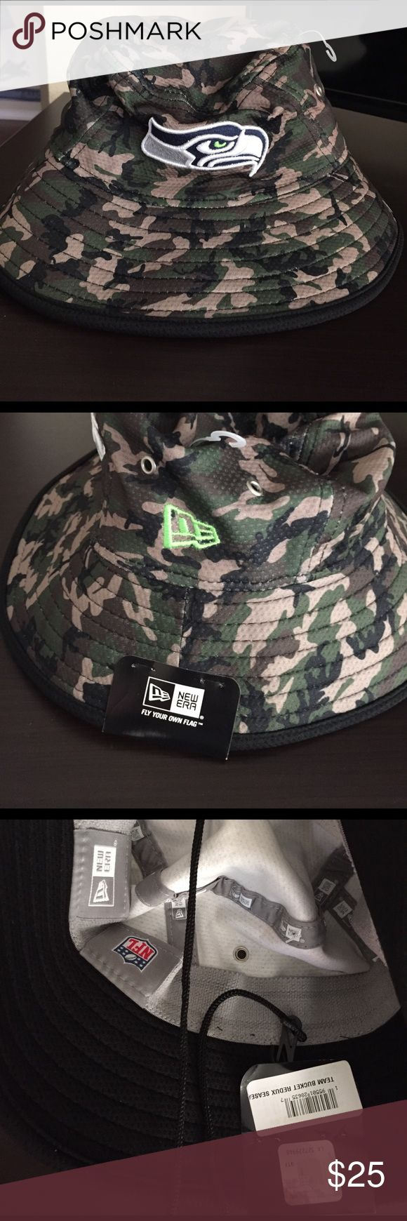 New Era Seattle Seahawks camo bucket hat🏈 Brand new unisex new era camo Seattle Seahawks bucket hat, also have Indianapolis colts one New Era Other