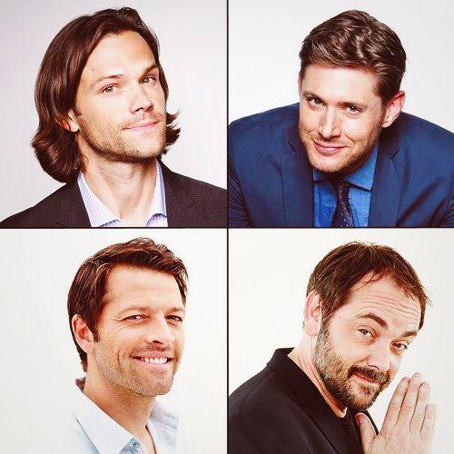 Jared Padalecki, Jensen Ackles, Misha Collins, and Mark Sheppard ||| Supernatural Cast