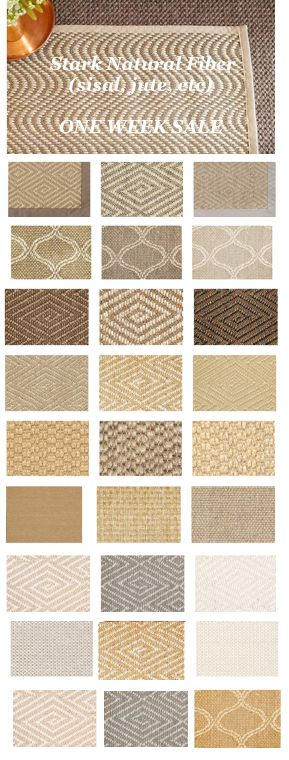 These are the best - Natural Fiber rugs by STARK (one week sale)