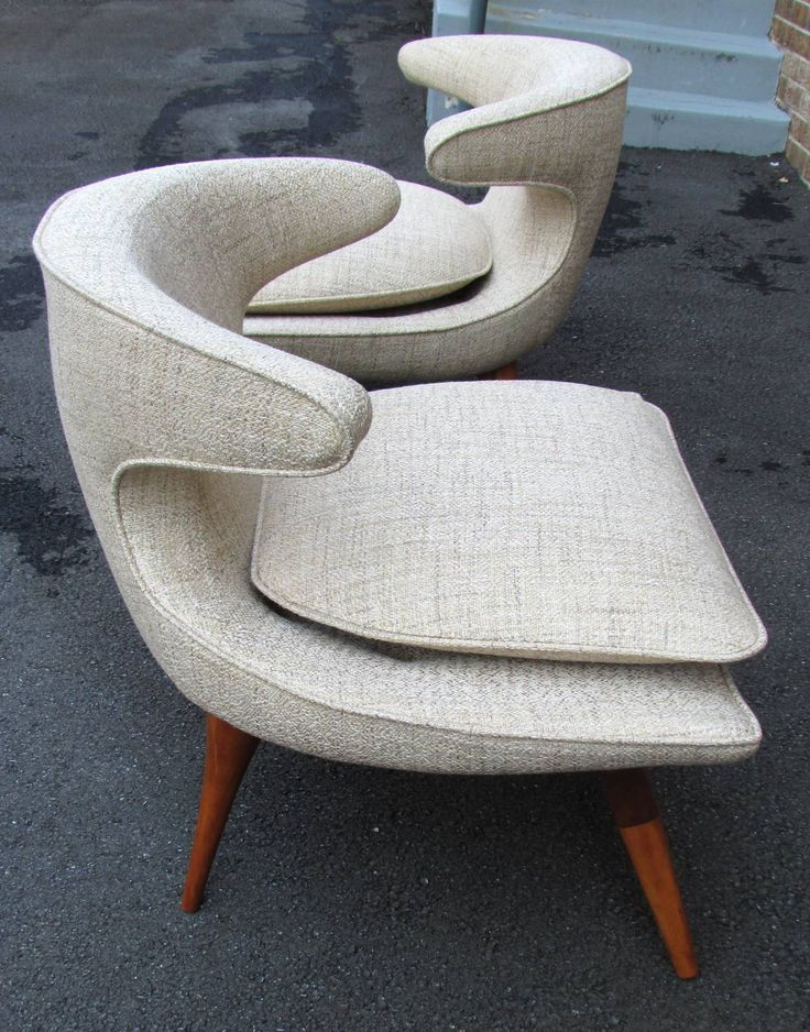 Pair of Karpen Horn Chairs: