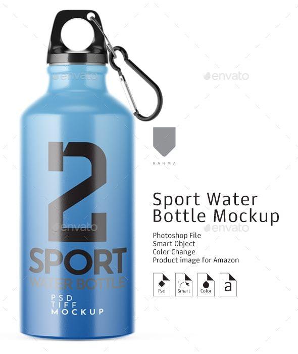 Sport Water Bottle Mockup Packaging Product Mock Ups Bottle Mockup Sport Water Bottle Bottle