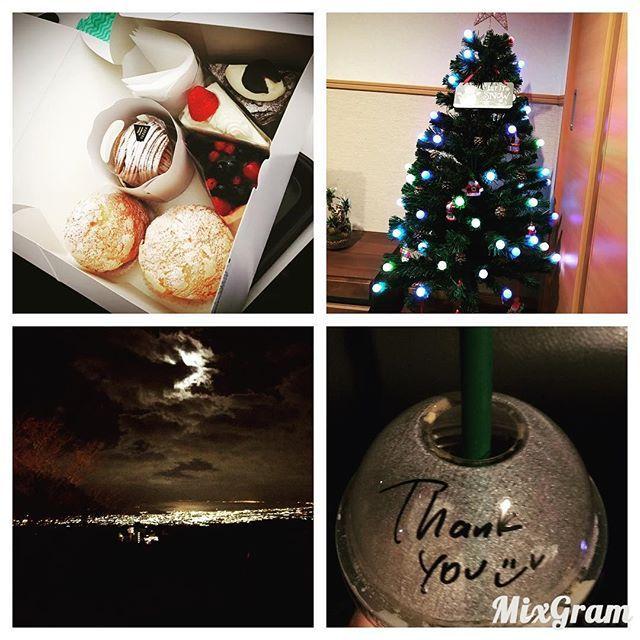 Instagram【anpanti4】さんの写真をピンしています。 《今日ニトリにクリスマスツリー 買いに行ってきた😂😂 本当はネットで買おうとしたけど やめて富士に、、 昨日はじゅんがきてくれて ケーキもかなり美味しかった😙😙😙💗 りんちゃんも可愛くて天使だったなぁ❣️ 夜はスタバ行って走って、夜景がめっちゃ すんでて綺麗にみえた✧ \( °∀° )/ ✧  #ニトリ#クリスマスツリー#可愛い #LED#飾り#オリジナル #スタバ#新作#Thank you(⍢) #夜景#箱根 #友達#赤ちゃん#天使#可愛いすぎる #ダイエット#ランニング#ストレッチ#筋トレ たべて痩せたい~ ほんとにほんとにほんとに。 飲んで痩せたい~  ライオンの薬毎日飲んでるから 大幅に体重変わんないけど減らない。 成人式までには44くらいに😂😂😂 あと3キロ4キロ痩せてくれー  ディズニーも指輪も新婚旅行も 子供もいつ叶うのかな?😙 #あー》