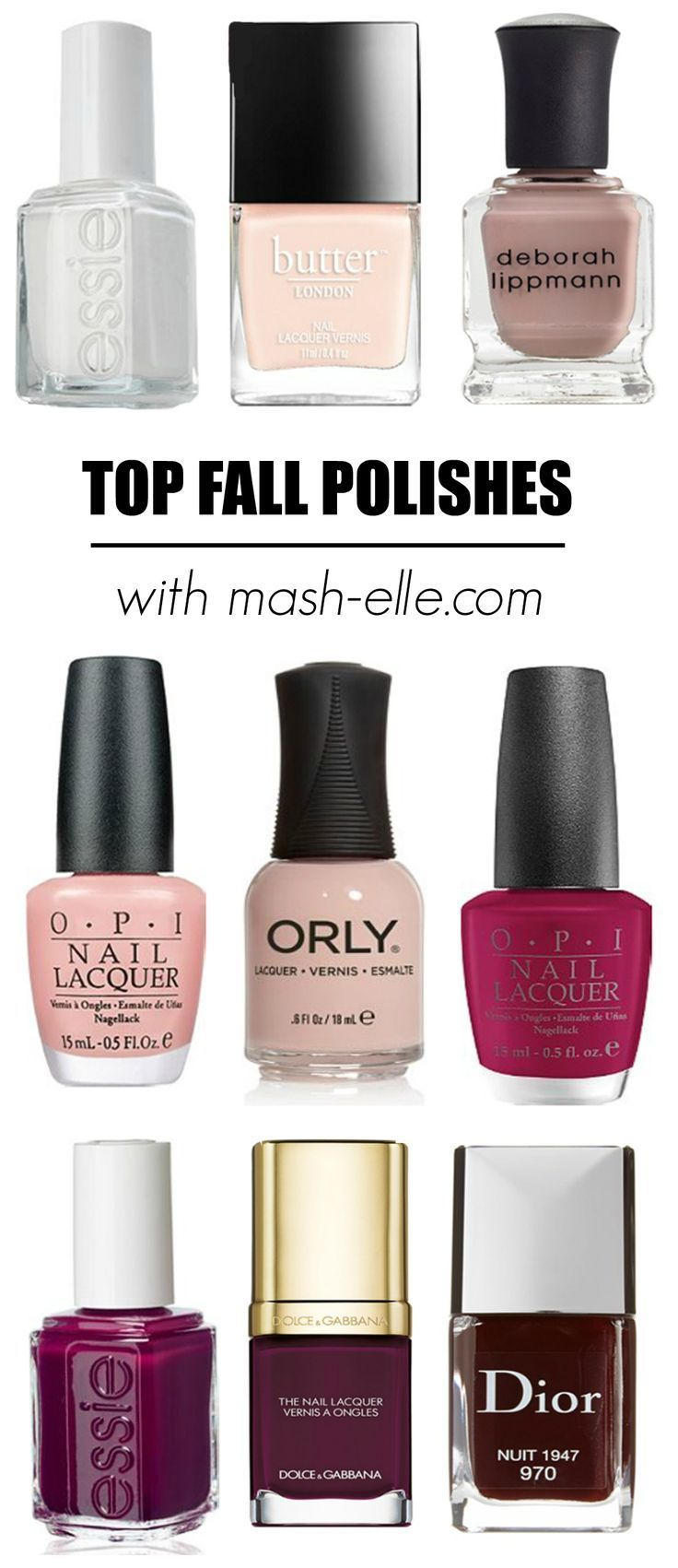 The Best Fall Nail Polish Looks | Nagellack