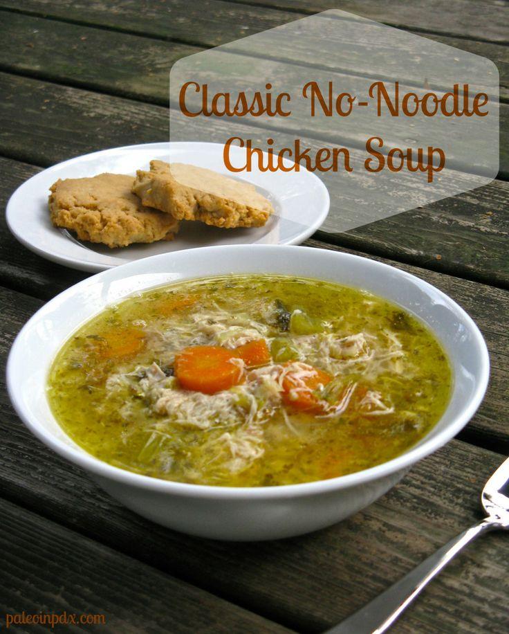 paleo chicken no-noodle soup