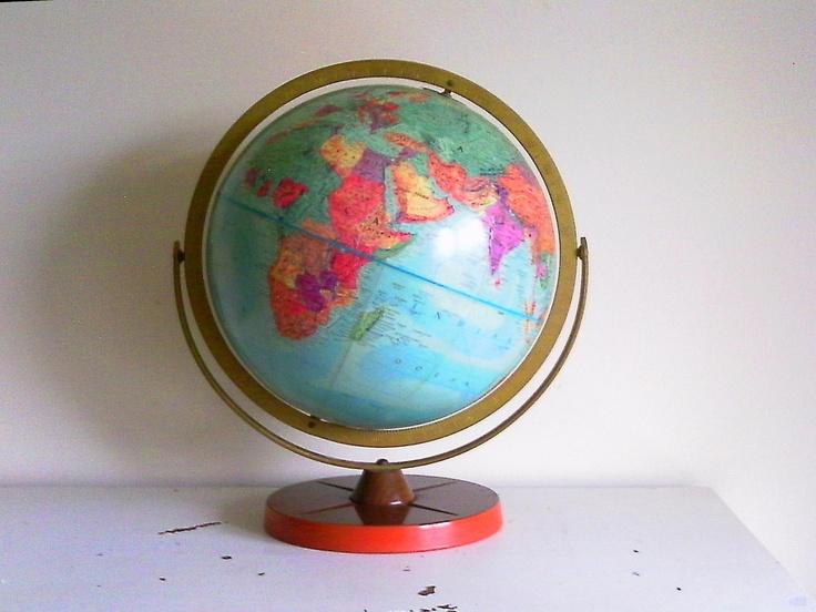 World Globe - Office Decor - Childs Room Decor - Teacher Gift - Home Decor. $38.00, via Etsy.