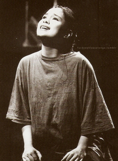 Lea Salonga. Even though she can be snobby, her voice is an unbeatable natural talent. I'm so thankful they found her for Miss Saigon :D [Les Miserables though... man...]