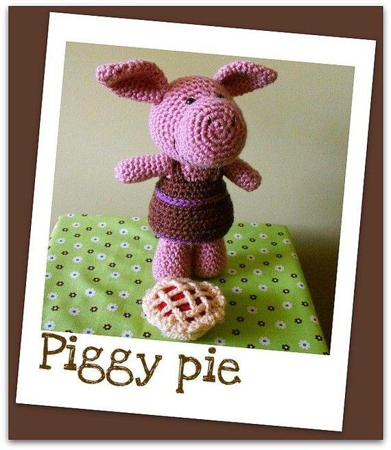 Piggy pie  amigurumi crochet pdf pattern by madisonscraftnook, $4.99
