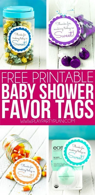 The cutest baby shower favors for girls, for boys, or for a gender neutral shower! They're simple to DIY for guests, cheap, and simple to make work with every theme - even a woodland one! And since everyone likes homemade treats, they're great for a co-ed