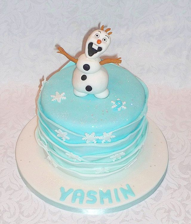 Olaf from Frozen birthday cake by EvaRose Cakes