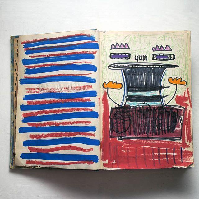5-6  #artistbook #artist #art #contemporary #contemporaryart #instagallery #kunst #arte #konst #sketchbook #book #painting #illustration #doodle #weird #modernart #lowbrow #lowbrowart #instaart #instaartist #artoninstagram #abstract #abstractart #text #posca #marker #paintmarker