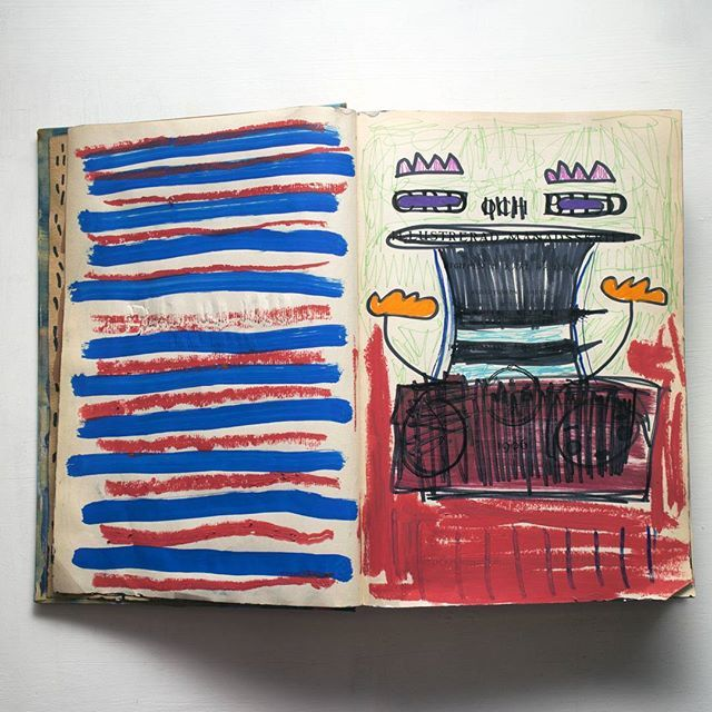 5-6  #artistbook #artist #art #contemporary #contemporaryart #instagallery #kunst #arte #konst #sketchbook #book #painting #illustration #doodle #weird #modernart #lowbrow #lowbrowart #instaart #instaartist #artoninstagram #abstract #abstractart #text #posca #marker #paintmarker