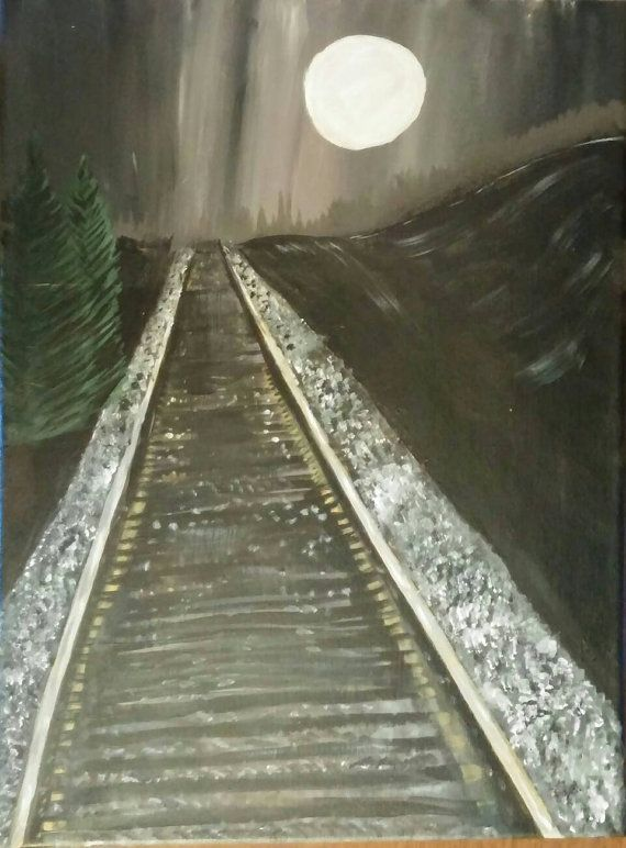 Hey, I found this really awesome Etsy listing at https://www.etsy.com/ca/listing/289928939/midnight-railroad-painting