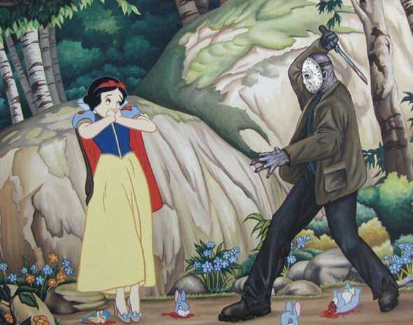 Sinister Disney Remix Paintings - The Rodolfo Loaiza DisasterLand Exhibit Taints Childhood Memories (GALLERY)