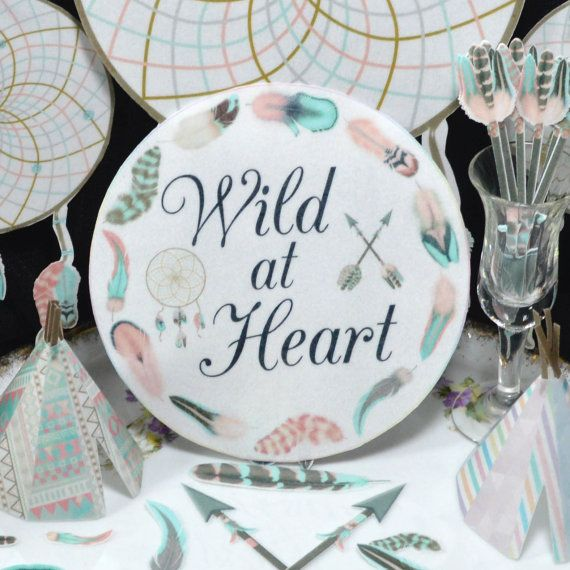 Edible Wild at Heart Circles Cotton Candy Boho by WicksteadsEatMe