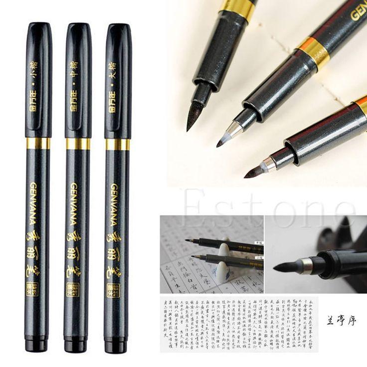 Новый Китайская Каллиграфия Кистью Чернила Перо Инструмент Для Рисования Ремесло 3 Размер купить на AliExpress