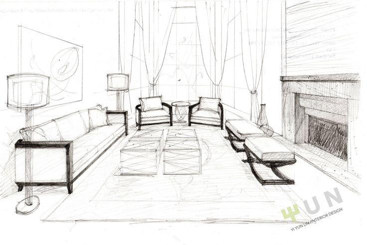 How to do interior design sketches tizcra stunning for Bedroom designs sketch