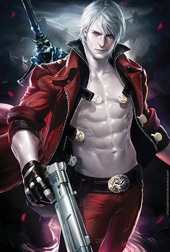 Dante from Devil May Cry. Art by Sakimichan. Poster on sale at www.storenvy.com/products/1669410-dante-dmc-poster