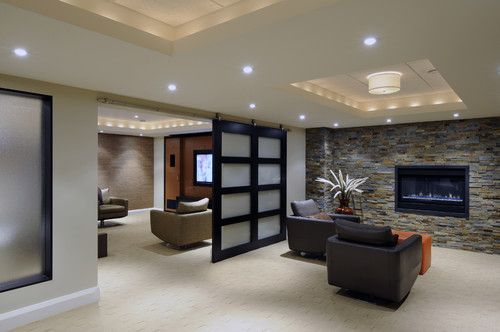 Seating areas - contemporary - basement - ottawa - by Southam Design Inc