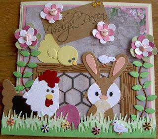 Jacqueline                               : Vrolijk Pasen  Voor deze paaskaart heb ik gebruikt...