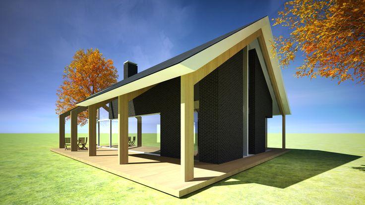 moderne schuurwoning | ontwerp voor een moderne landelijk gelegen woning met veel licht, royale hoogte, grote vide en een zichtbare houtconstructie, waardoor het tegelijkertijd eigentijds en in harmonie met de omgeving is