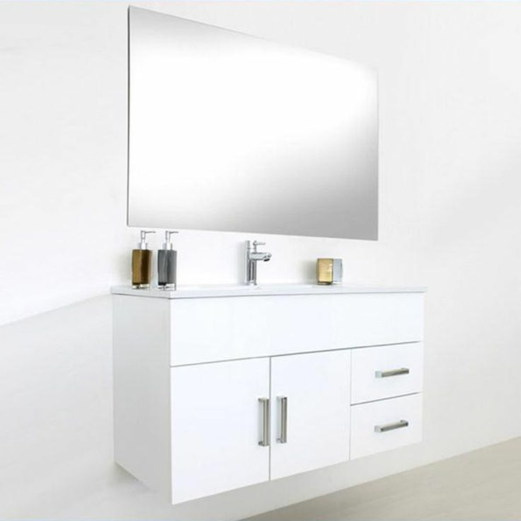 Nuovo mobile bagno design moderno 100cm base + specchio + applique design PROMO