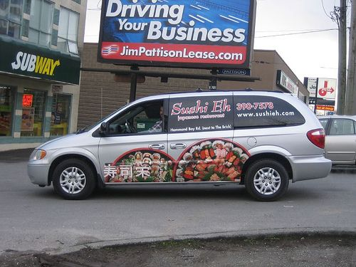 Produced and installed by FASTSIGNS Vancouver for Sushi Eh Japanese Restaurant www.fastsigns.com/653