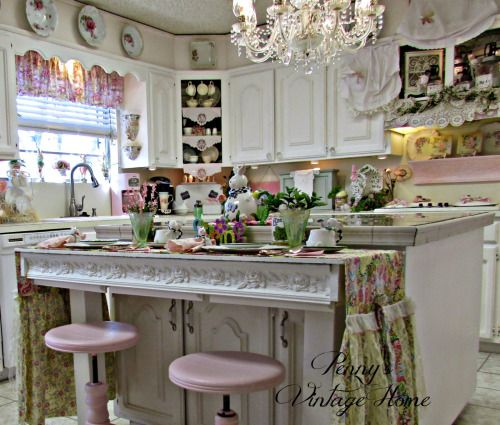 4531 best images about shabby chic home 3 on pinterest for Romantic kitchen designs