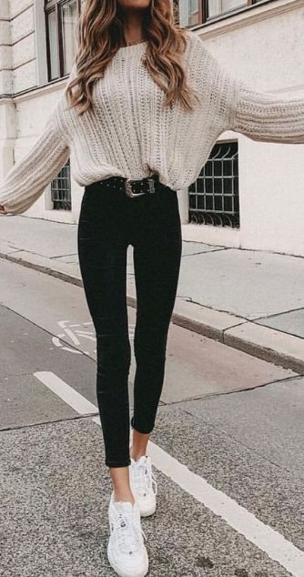 25 Cute Warm Outfits For Weekend on Fall