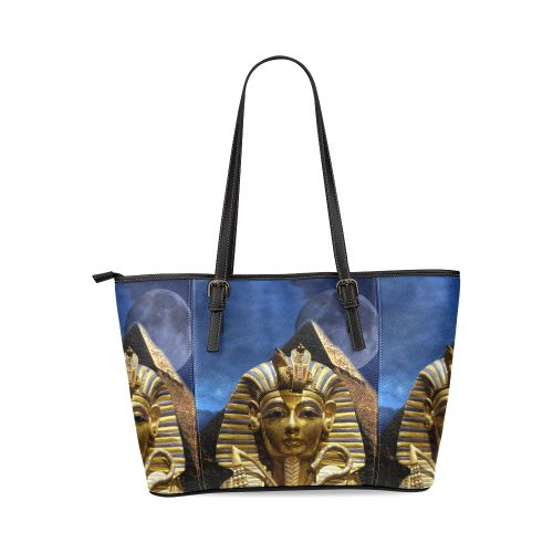 King Tut and Pyramid Leather Tote Bag/Large. FREE Shipping. FREE Returns. #bags #kingtut