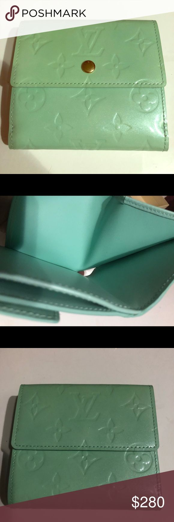 Louis Vuitton Wallet 100% Authentic Louis Vuitton Wallet. It's light turquoise color, used but in a perfect condition. Almost like new. Comes in the original packaging. It's a great  chance to have Louis Vuitton Wallet for a great price. If you have questions or need more pictures, don't hesitate to ask! 😉 Louis Vuitton Bags Wallets