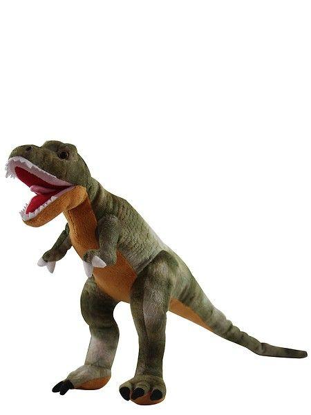 Upea jättikokoinen T. Rex -pehmo on jokaisen dinofanin paras kaveri. Pituus päästä hännänpäähän mitattuna n. 70 cm, korkeus noin 45 cm.