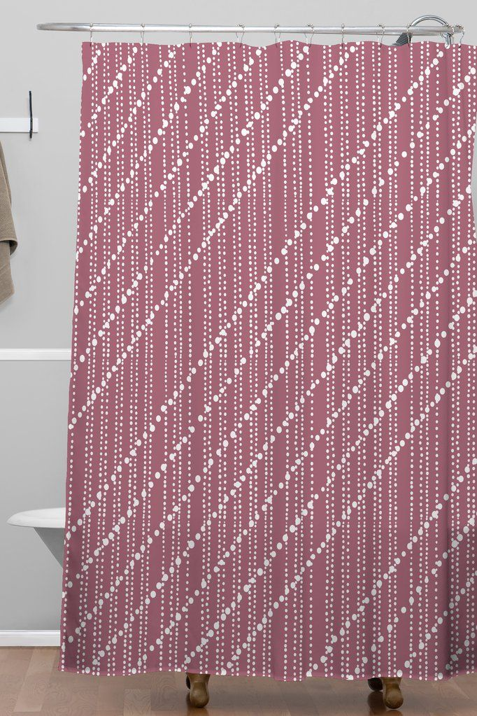 Dotty Lines Wine Shower Curtain Lisa Argyropoulos S Izobrazheniyami