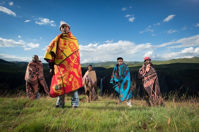 For the people of Lesotho, the blankets have become every bit as ubiquitous as denim and an even more important part of everyday life.