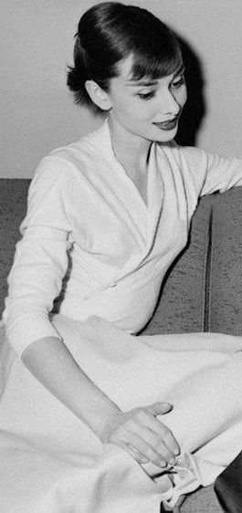 A young-ish Audrey Hepburn - my yardstick for beauty.