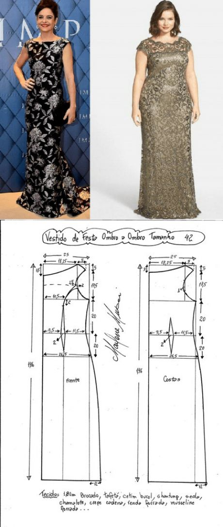 АТЕЛЬЕ дизайнерской одежды: шитье, выкройки.Платье Размеры 36-56 в файле PDF