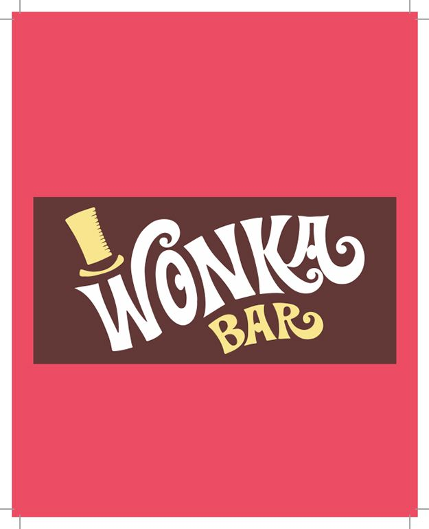 Free Wonka Bar Wrapper Printable Party Invite