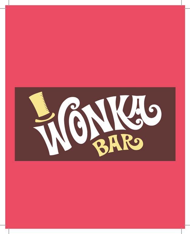 Free Wonka Bar Wrapper Printable Party Invite
