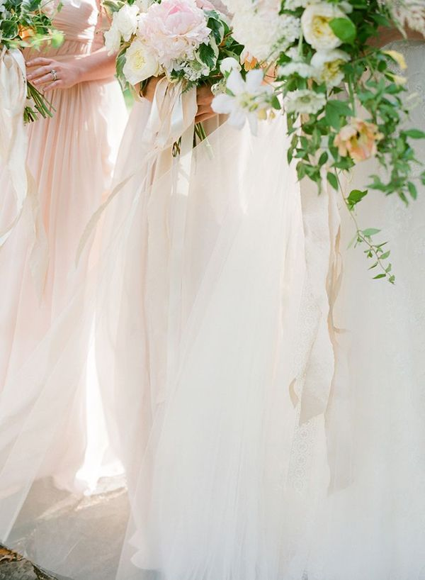 Ivory and Blush Bridesmaids Bouquets   Buffy Dekmar Photography   Ethereal Neutral Wedding Ideas for Summer